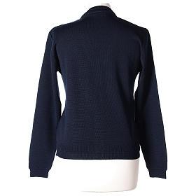 Giacca corta blu 50% lana merino 50% acrilico suora In Primis s5