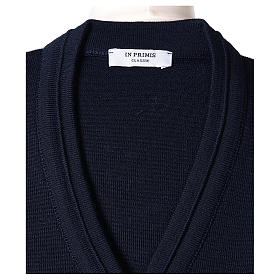 Giacca corta blu 50% lana merino 50% acrilico suora In Primis s6