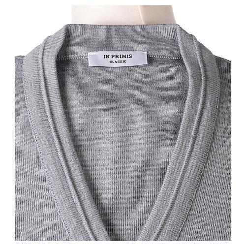 Giacca corta grigio perla 50% lana merino 50% acrilico suora In Primis 7