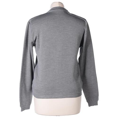 Short grey cardigan 50% merino wool 50% acrylic for nun In Primis 6