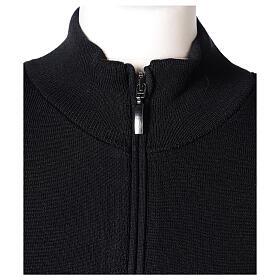 Sweter kołnierzyk koreański suwak 50% akryl 50% wełna merynos czarny siostra zakonna In Primis s2