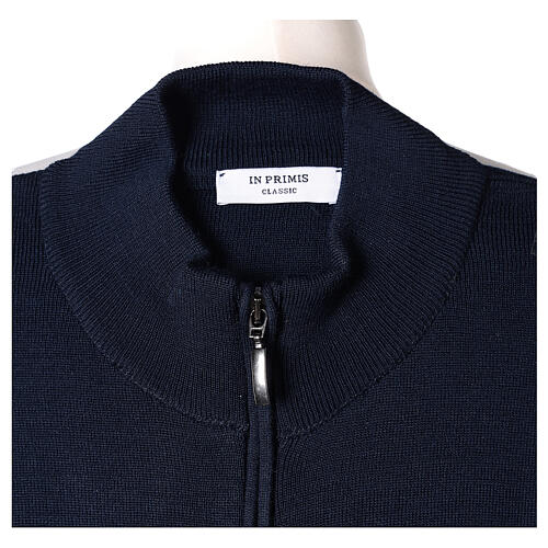 Jacke mit Stehkragen und Reißverschluß, blau, 50% Acryl - 50% Merinowolle, In Primis 6