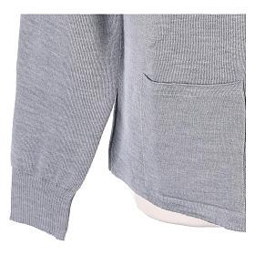 Giacca coreana con zip 50% acrilico 50% lana merino grigio perla suora In Primis s4