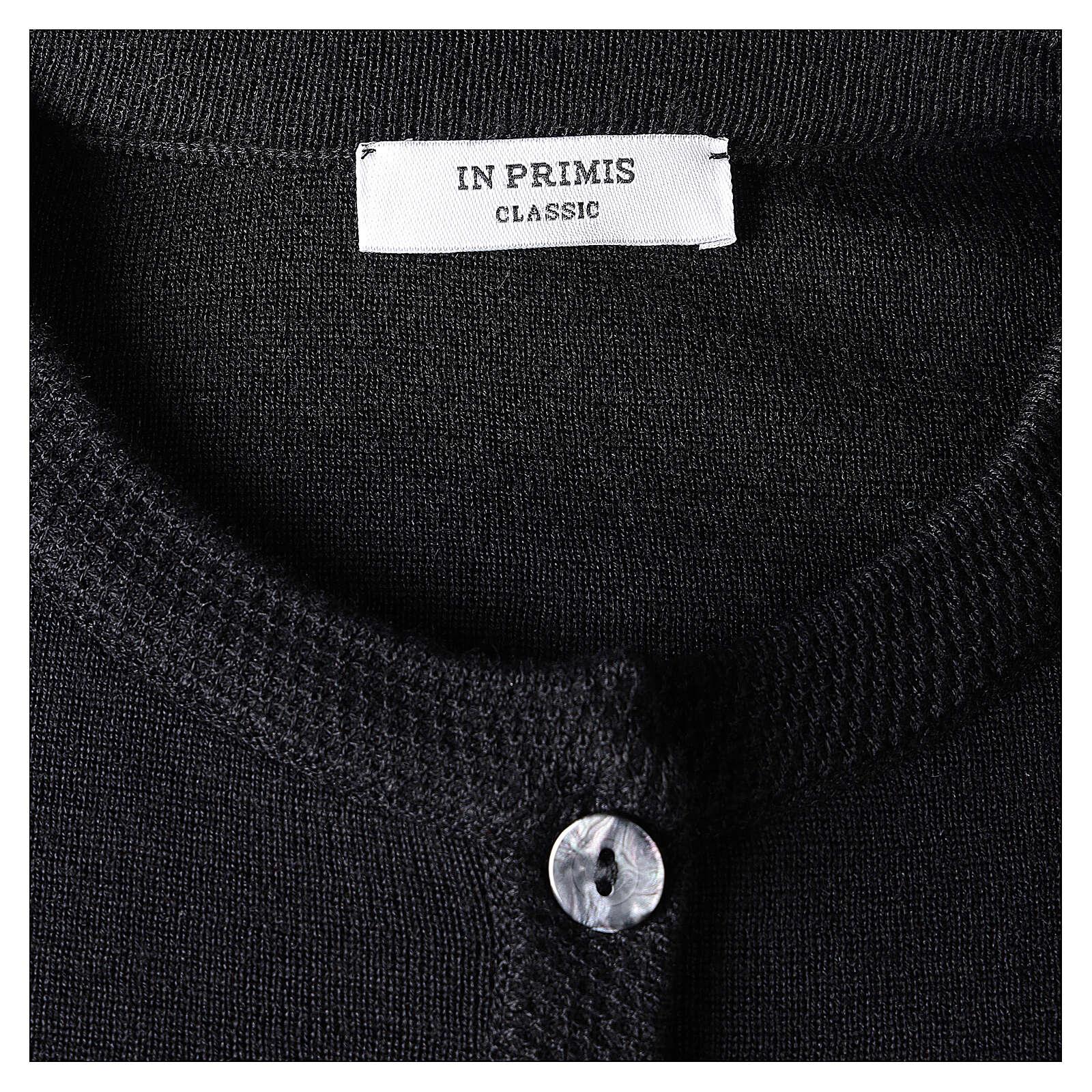 Cardigan suora nero coreana tasche TAGLIE CONF. 50% acr. 50% merino In Primis 4