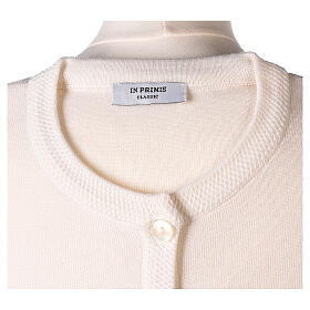 Cardigan suora bianco coreana tasche TAGLIE CONF. 50% acr. 50% merino In Primis s7