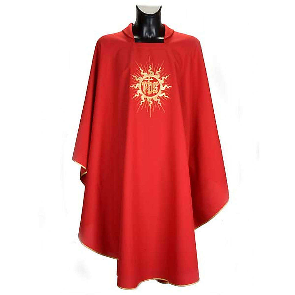 Casula liturgica con stola sole e croce 4