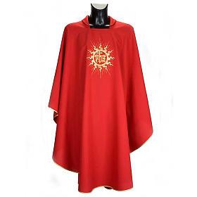 Casula liturgica con stola sole e croce s4