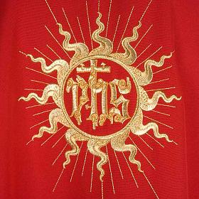 Casula liturgica con stola sole e croce s5