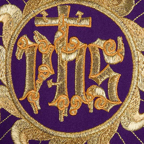 Casula liturgica con stola sole e croce 3