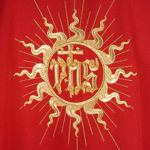Casula liturgica con stola sole e croce 5