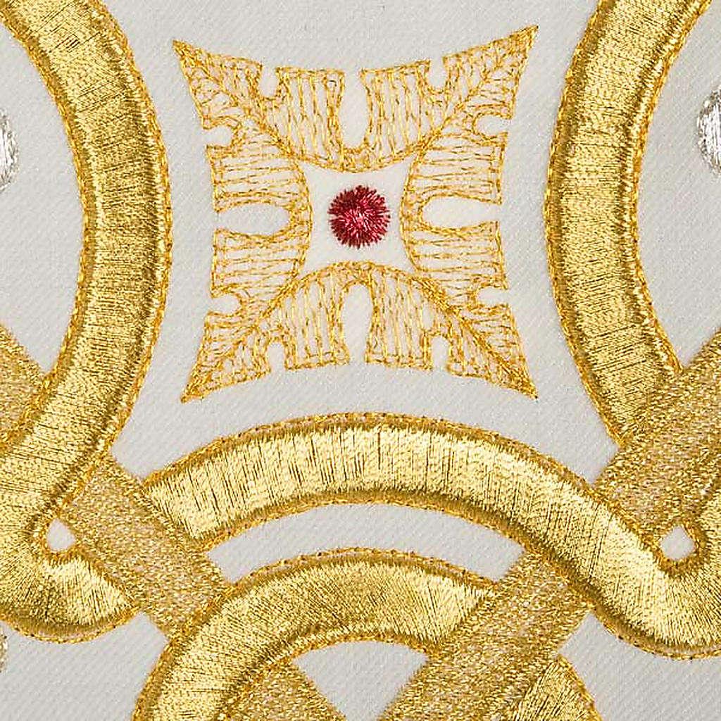 Casula liturgica con stola colombe acquasantiera 4