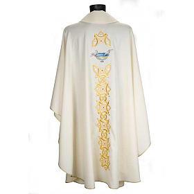 Casula liturgica con stola colombe acquasantiera s2