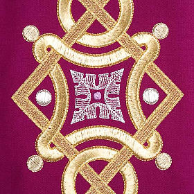 Casula liturgica con stola colombe acquasantiera s7