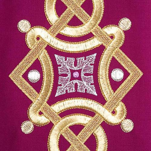 Casula liturgica con stola colombe acquasantiera 7