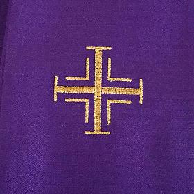 Casula religiosa e Stola viola edera s7