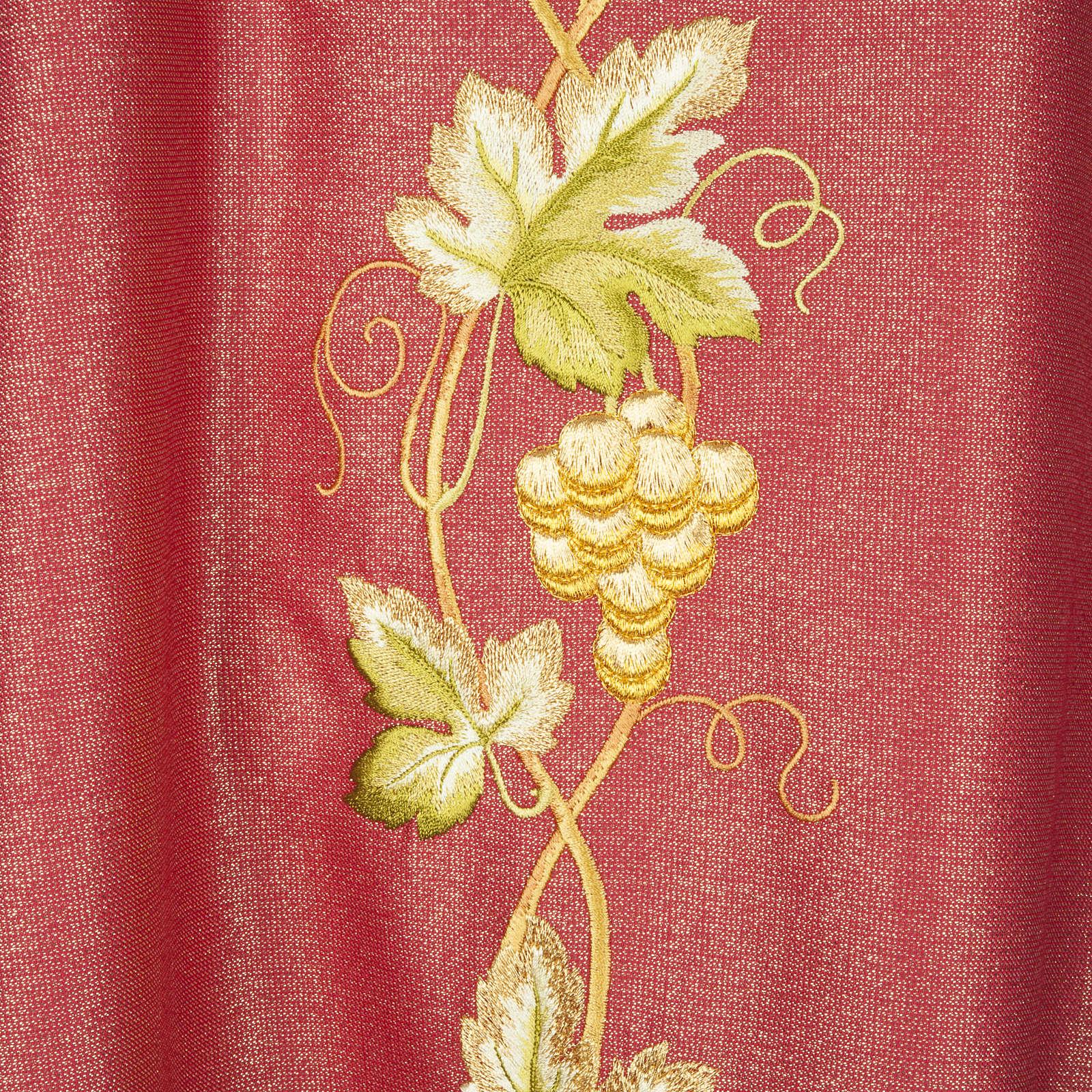 Casulla y estola en lana y tela brillante 4