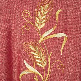 Casulla y estola en lana y tela brillante s5