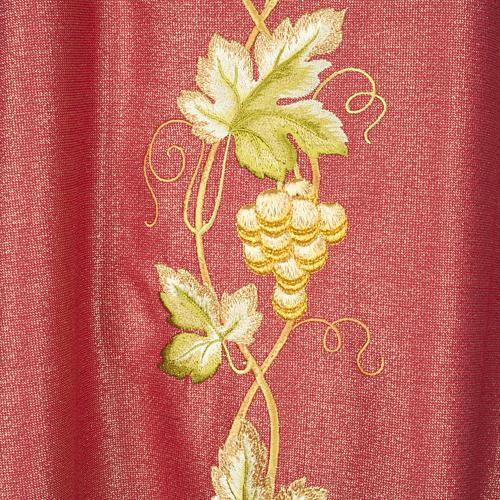 Casulla y estola en lana y tela brillante 6