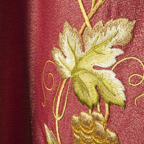 Casulla y estola en lana y tela brillante 7