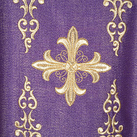 Chasuble with stole, wool and lurex fabric s1