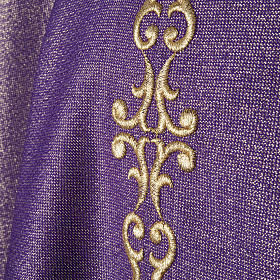 Chasuble with stole, wool and lurex fabric s2