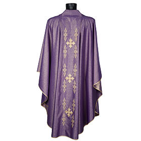 Chasuble with stole, wool and lurex fabric s3