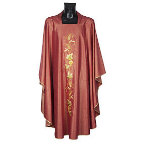 Chasuble with stole, wool and lurex fabric s4
