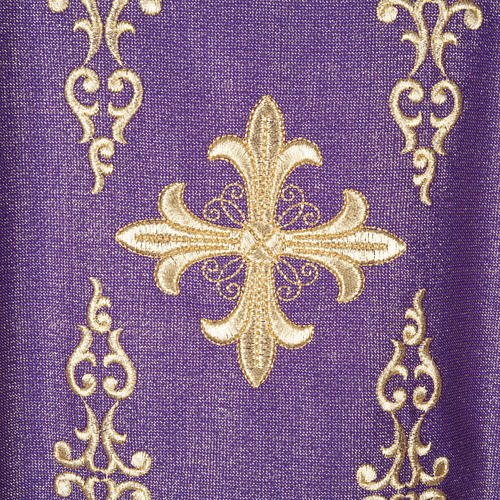 Chasuble with stole, wool and lurex fabric 1