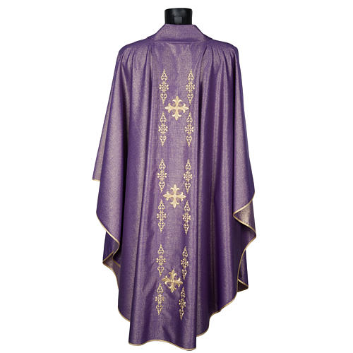 Chasuble with stole, wool and lurex fabric 3