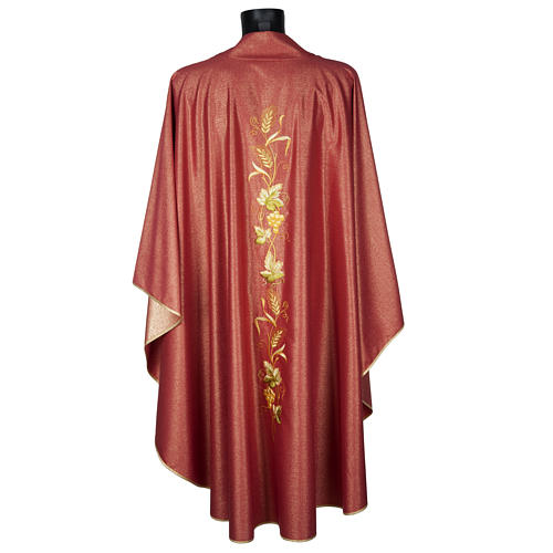 Chasuble with stole, wool and lurex fabric 8