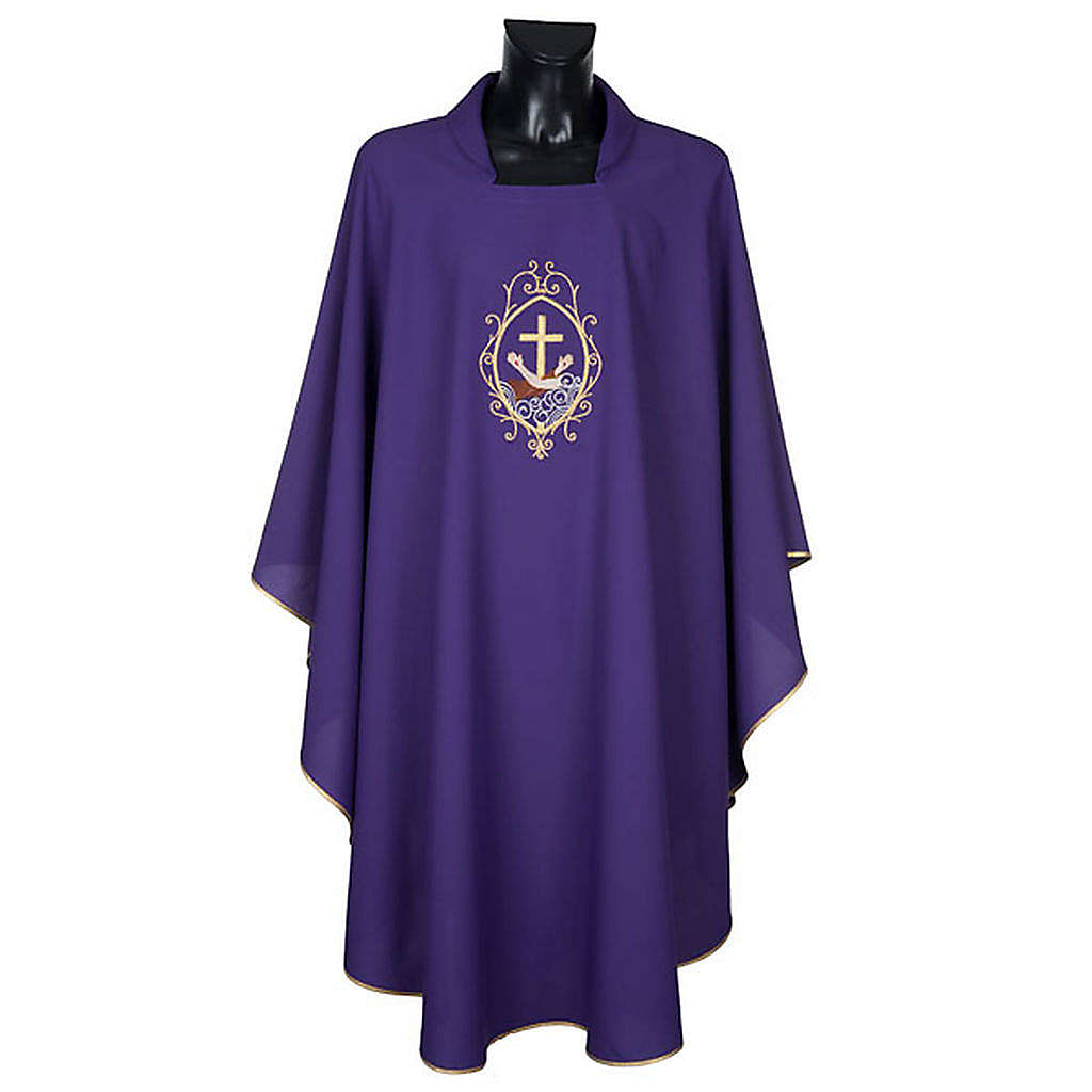 Chasuble and stole, cross and hands 4