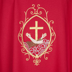 Chasuble and stole, cross and hands s27