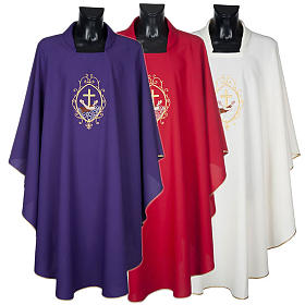 Chasuble and stole, cross and hands s1