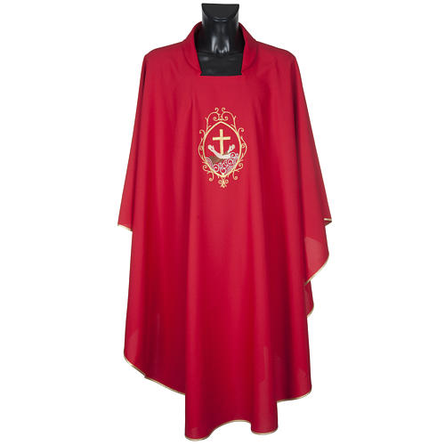Chasuble and stole, cross and hands 2