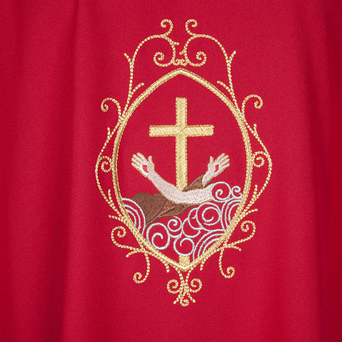 Chasuble and stole, cross and hands 5