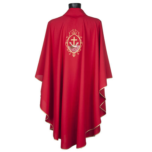 Chasuble and stole, cross and hands 8