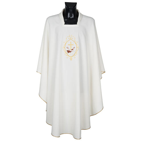 Chasuble and stole, cross and hands 11