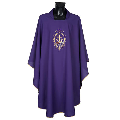 Chasuble and stole, cross and hands 17