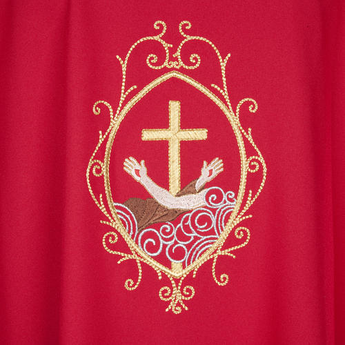 Chasuble and stole, cross and hands 27