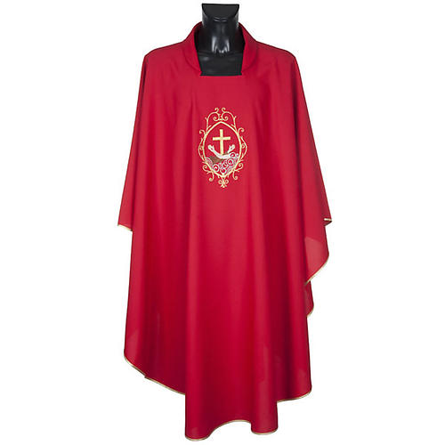 Chasuble and stole, cross and hands 3