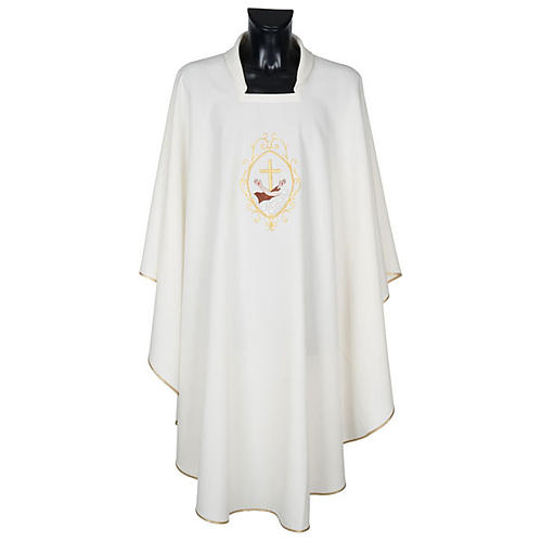 Chasuble and stole, cross and hands 10