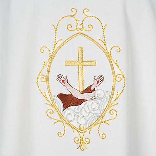 Chasuble and stole, cross and hands 13