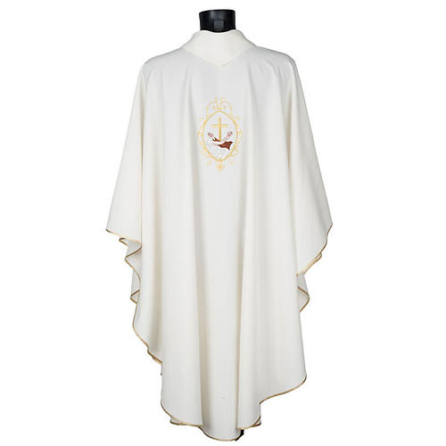 Chasuble and stole, cross and hands 14