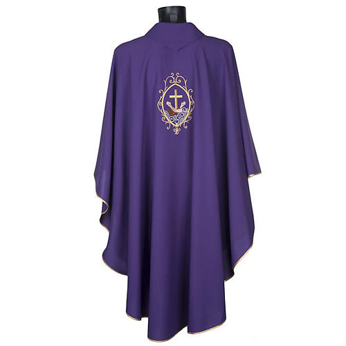 Chasuble and stole, cross and hands 24