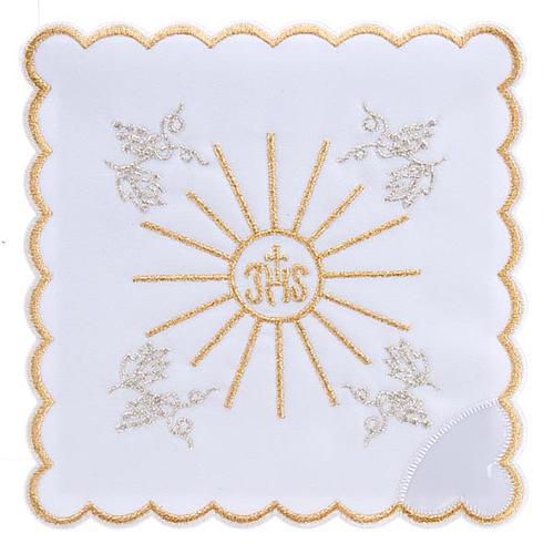 Servicio para la misa 4 piezas con bordado símbol IHS 1