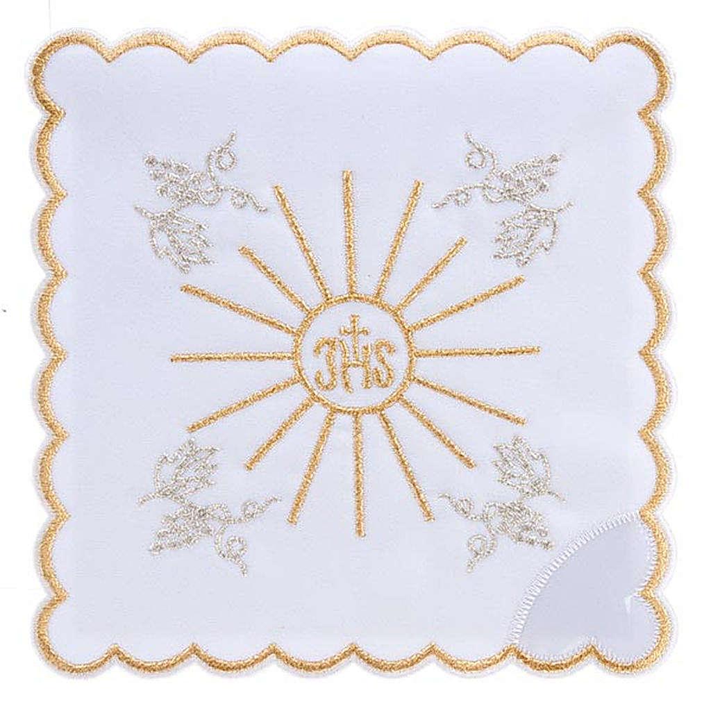 Servizio da messa 4pz. ricamato simbolo IHS 4