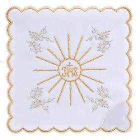 Servizio da messa 4pz. ricamato simbolo IHS s1