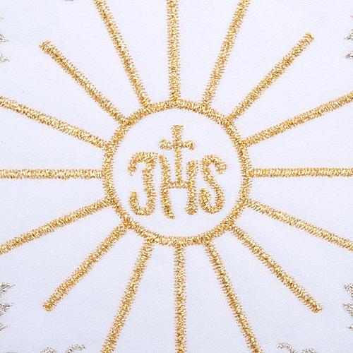 Servizio da messa 4pz. ricamato simbolo IHS 3