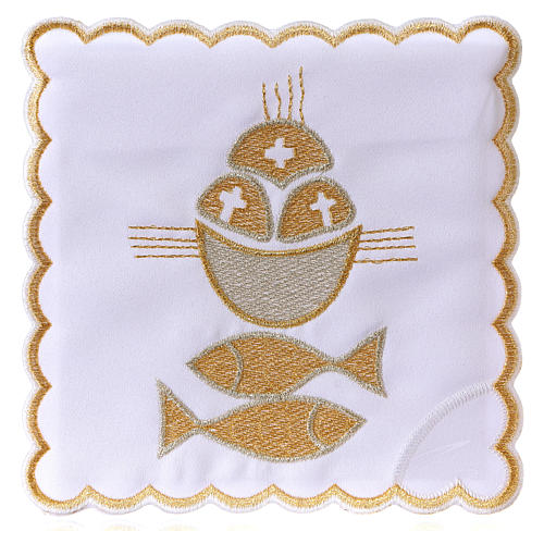 Altar linen set 4 pcs. loaves and fishes symbol 1