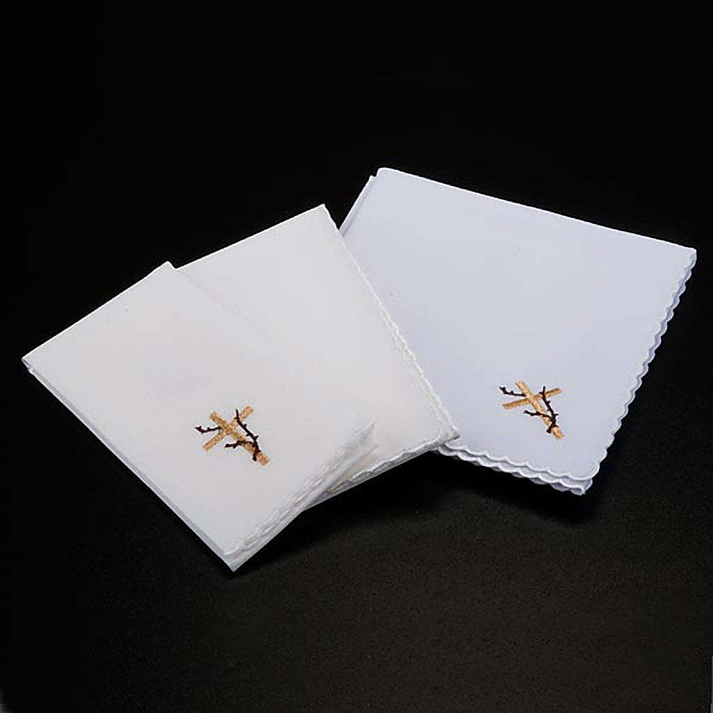 Mass linens 4 pcs, ears of wheat and thorns symbol 4